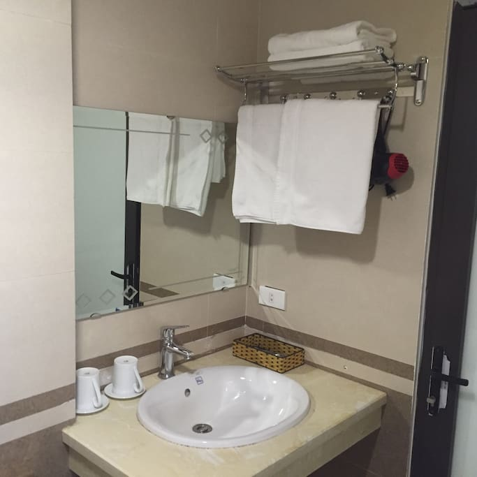 Private bathroom with full amenities
