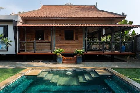 Villa Kamboja Angkor private villa and pool