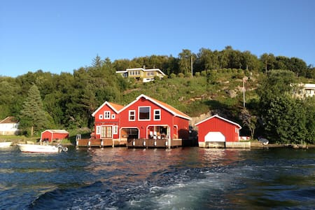 Unique Red Boathouse on Fjord - Ставангер