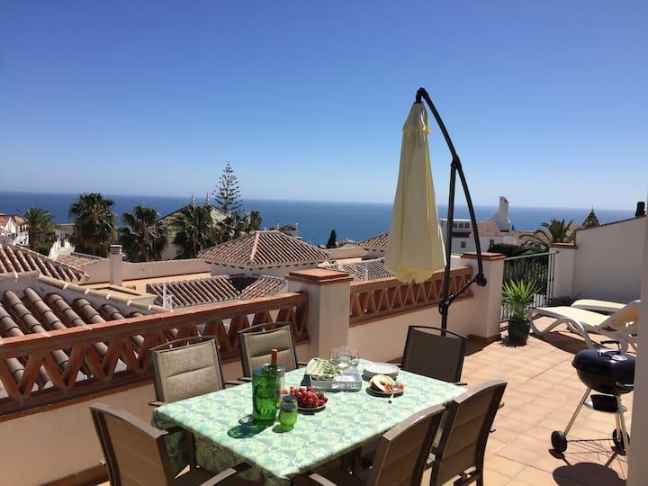 Burriana beach, pool, big terrace, superb seaview
