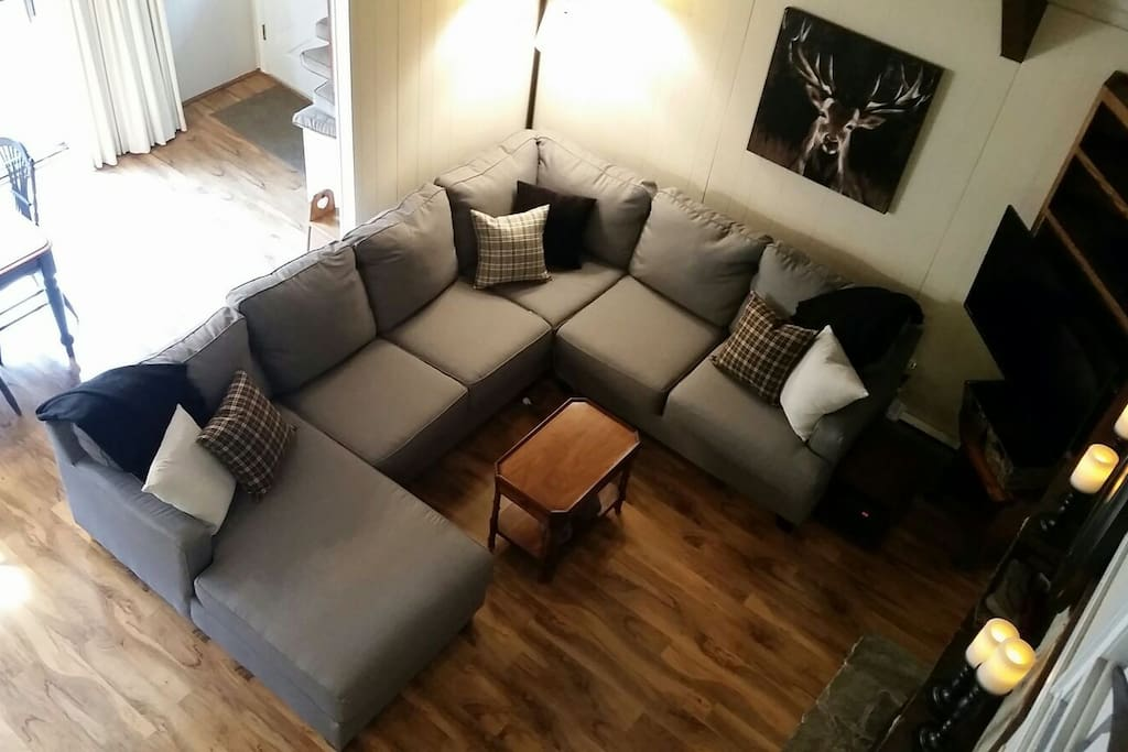 New sectional, lighting and decor