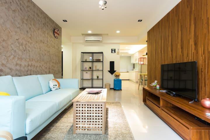 全新開幕特價!台北市 捷運三分鐘、大3房2衛-後陽台、101、故宮 - Xinyi District - Apartment