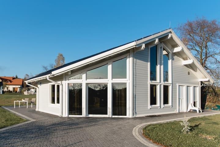 Skandynawski dom z sauną z widokiem na Babią Górę