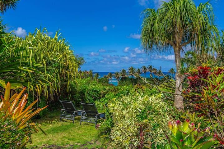 Kauai Garden Estate w/ Ocean Views & hot tub