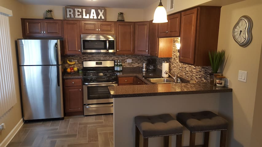 Warm, modern one bedroom, close to it all! - Chicago Ridge - Condomínio