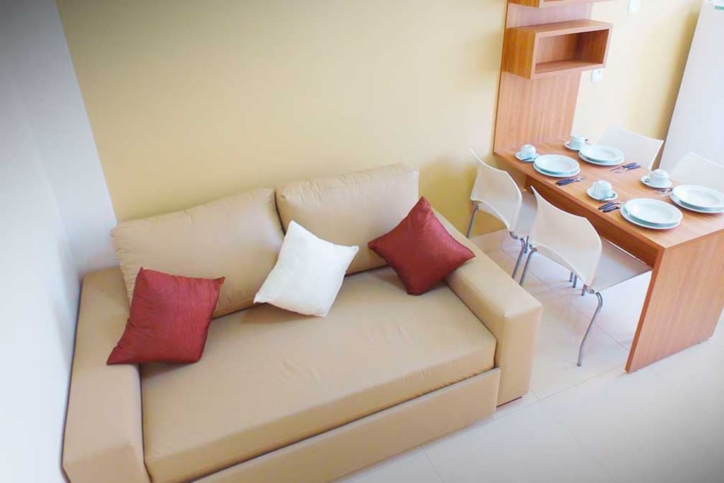 Sala de Estar com Sofa Cama