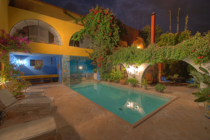 Authentic Mexican Villa with Pool and Staff