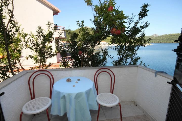 Studio flat with balcony and sea view Pasadur (Lastovo) (AS-996-b)