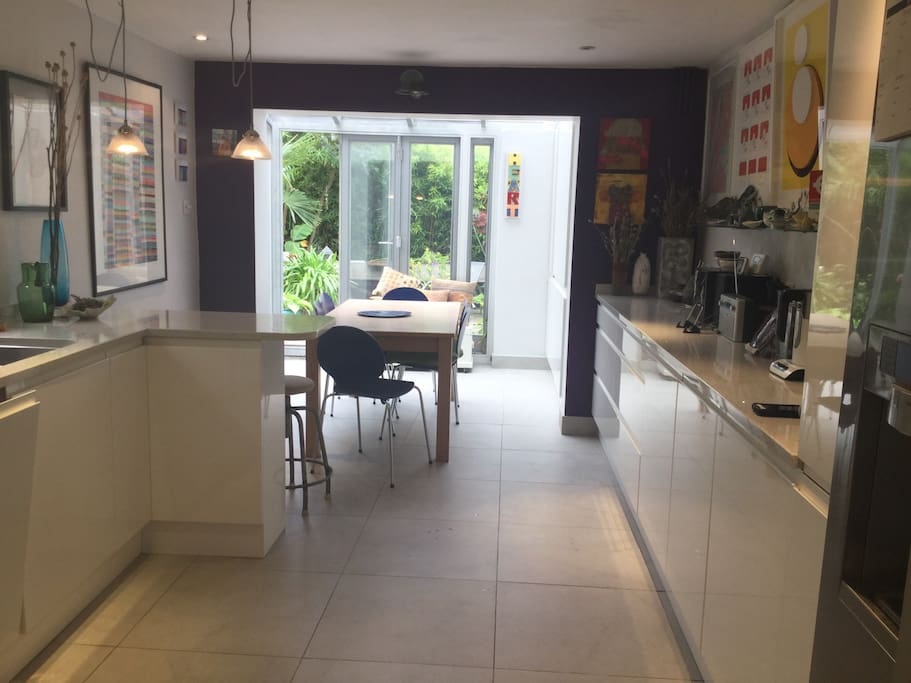 Large open & sun filled kitchen with easy access to the garden.