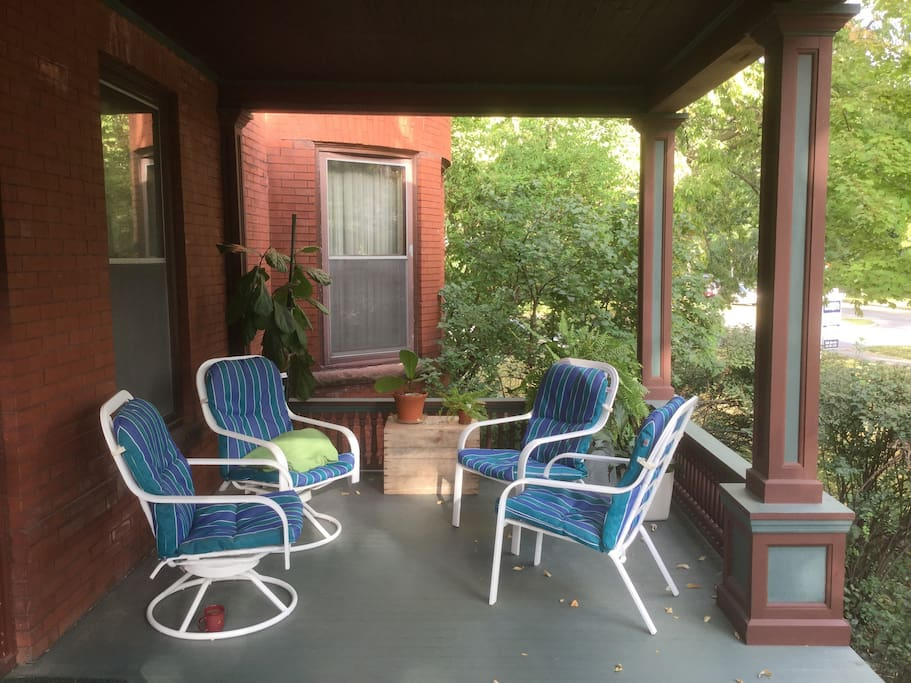 The perfect porch for watching the world go by.