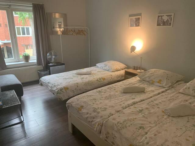 Big room in lively neighbourhood
