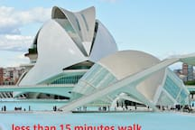 less than 15 minutes walk