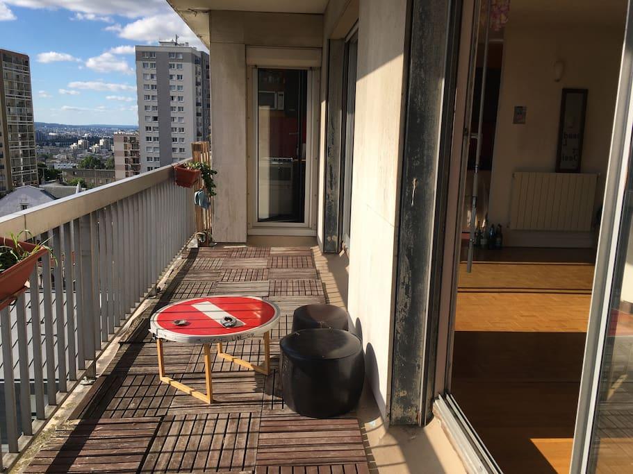 10 m2 de terrasse