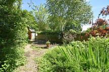 Back garden with decking