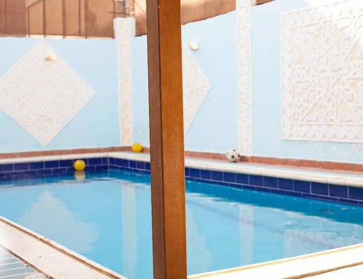 A  Villa 200 meters  below sea level rich in O2