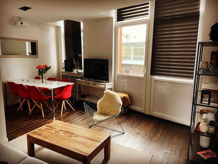 90sqm 2 Bedrooms Appart in the city center