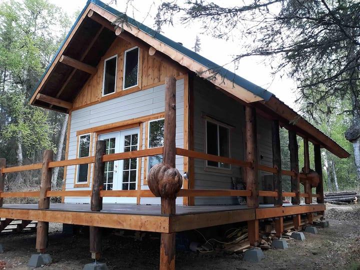Alaskan cabin on Butterfly Lake