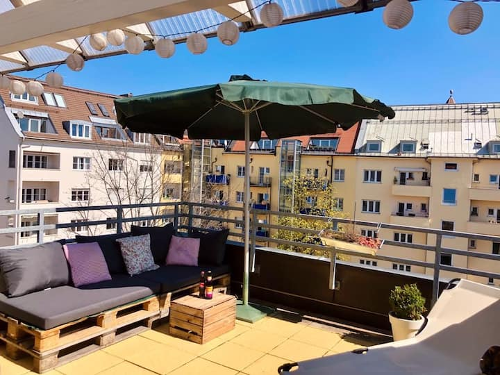 Maisonette-Wohnung mit Dachterrasse in Schwabing