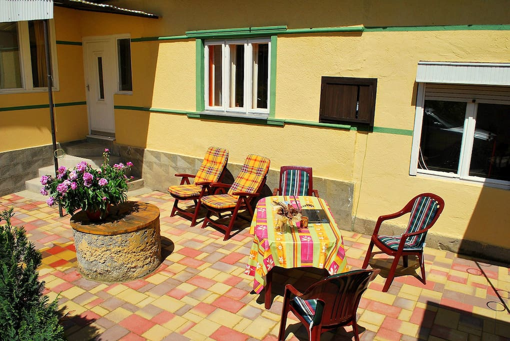 Lovely terrace in the sun