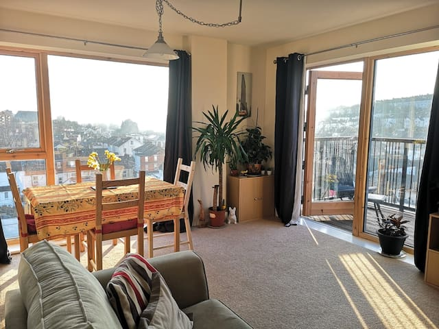 Bright, clean and comfortable with stunning views
