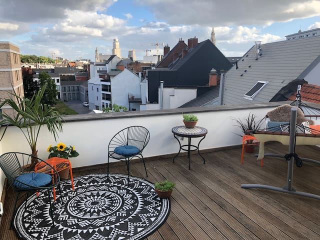 Amazing duplex with a nice terrace & view