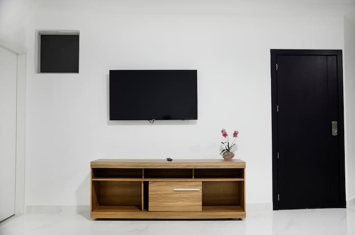 Clean and minimal living room