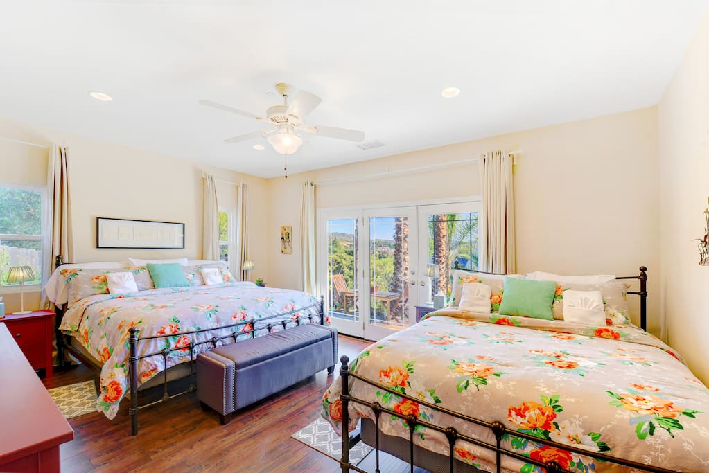 Master bedroom w/ king and queen
