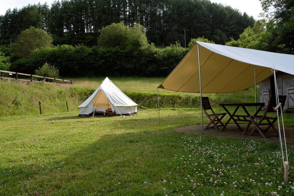 Bell Tent and Dining Canopy