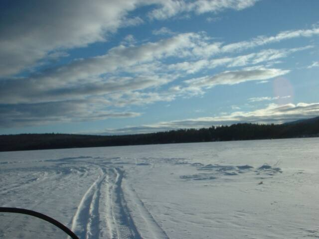Snowmobiling from the driveway