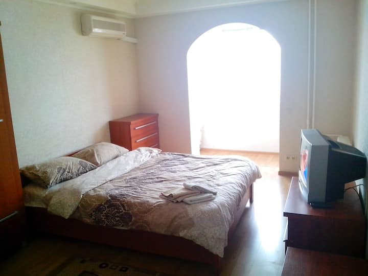 Strict apartment near the exhibition center.