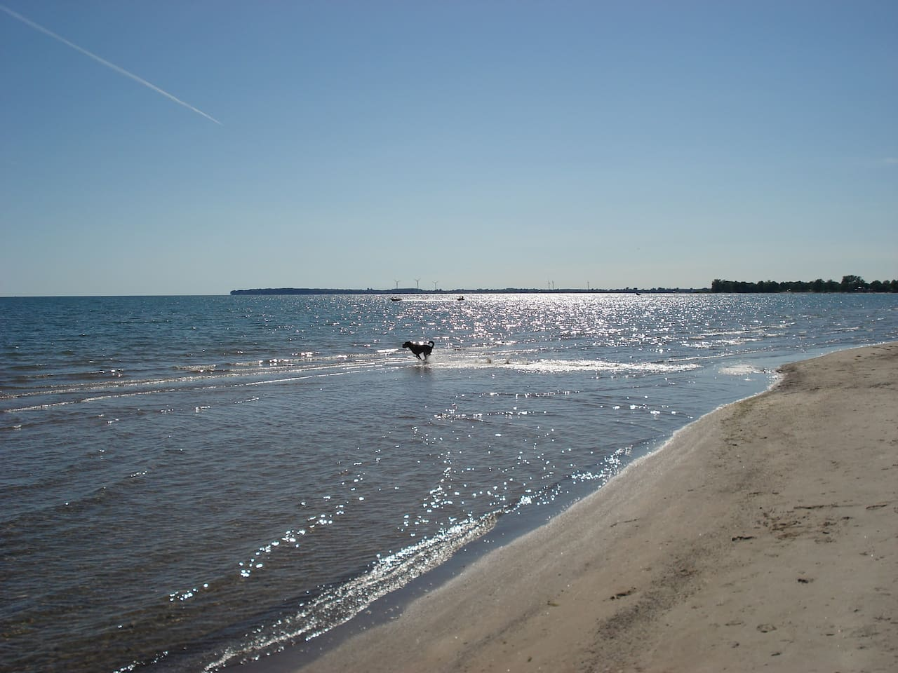 view of beach. private property right to waters edge