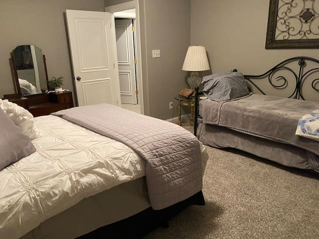Bedroom #3 Hideaway Room Trundle 2 Twins 1 Queen Full bath- no tub, walk in shower