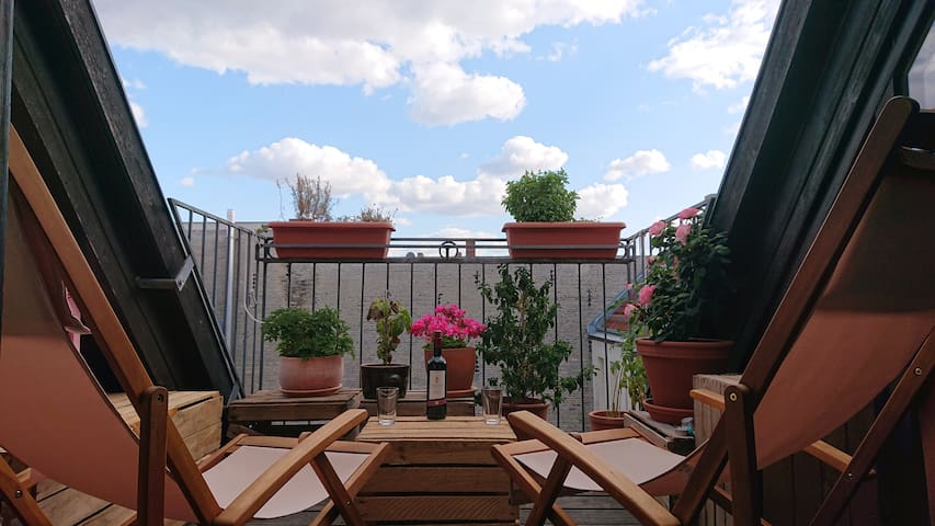 Beautiful rooftop in Kreuzkoelln