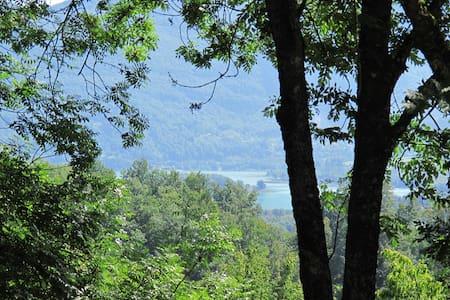 maison dans les arbres avec vue sur le lac - Dullin