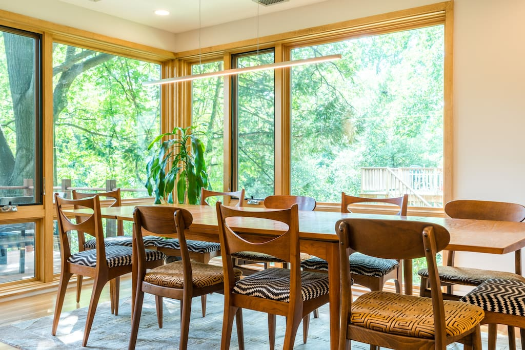 Seating for 10 at our dining room table