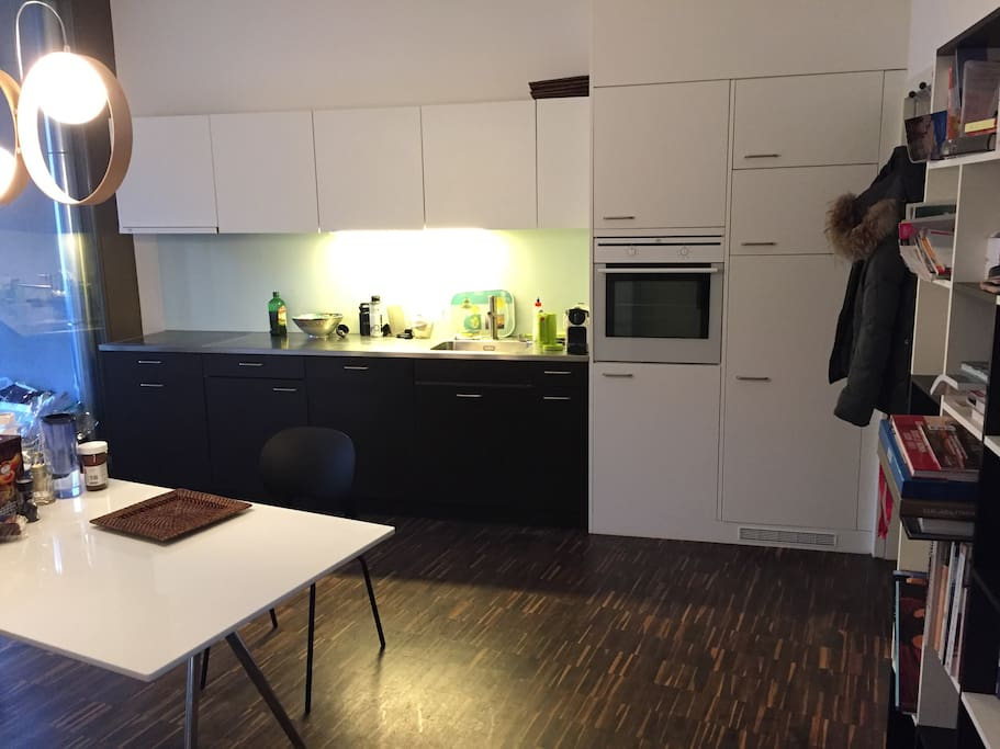 Modern kitchen, private space for your use in the fridge