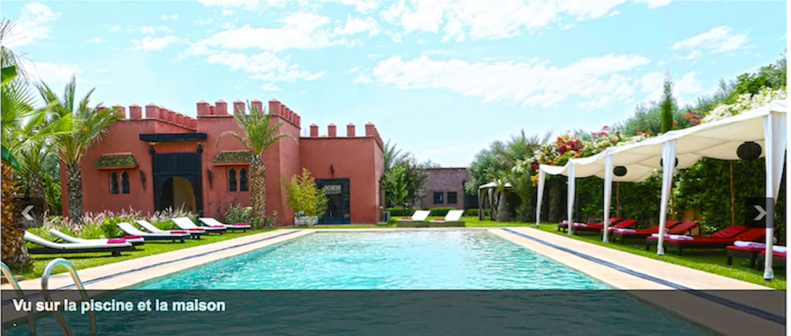 Luxurious domain Big Swimming pool WiFi TV Garden - Marrakech - Guesthouse