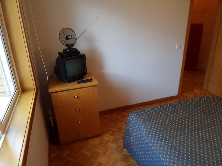 Bed room with TV