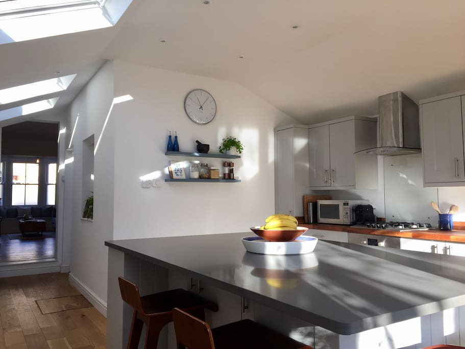 Kitchen - with a separate utility room with washing machine and tumble dryer