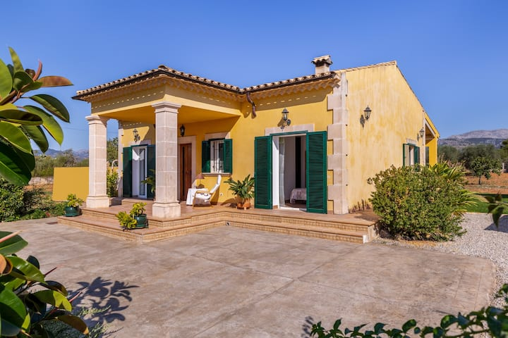 "Charming Country Home ""Son Serra"" in Rural Area with Wi-Fi, Air Conditioning, Terrace & Garden; Parking Available"