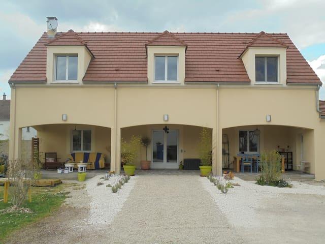 Jolie maison dans village calme au bord de l'Yonne - Champs-sur-Yonne - Casa