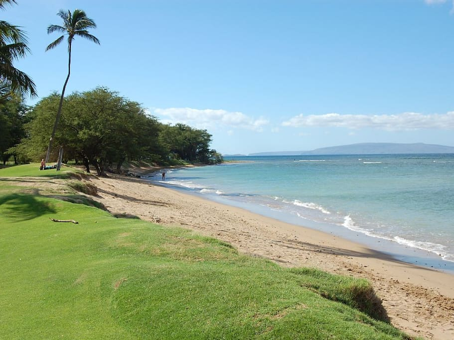 Lovely Waiohuli Beach with views of Kaaholawe and Lanai