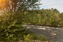 The Androcoggin River runs right beside the house, great fishing and rafting!