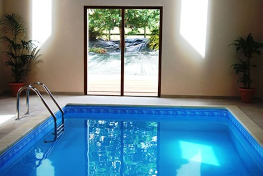 Our indoor heated swimming pool - open Easter to October