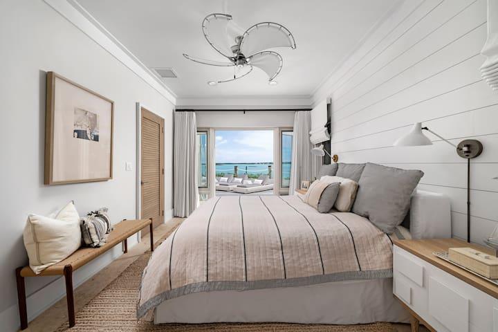 Lower level bedroom-Ocean View Guest Suite
