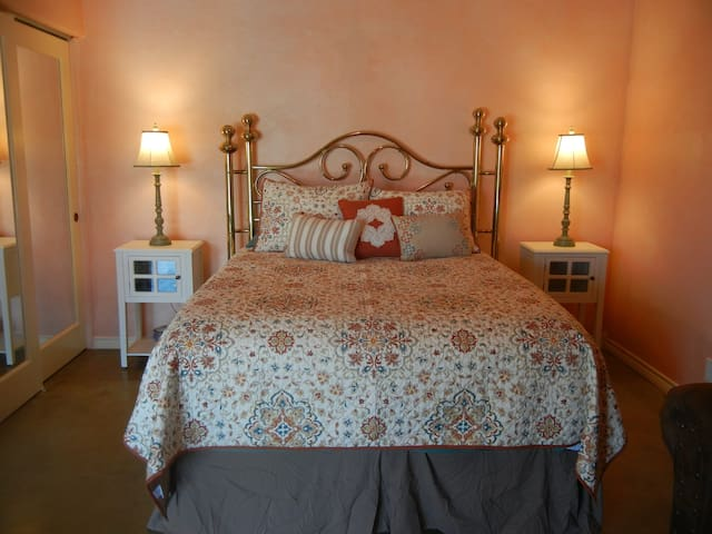 Your comfortable queen bed awaits!