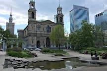 Historical Grzybowski Square. Historyczny plac Grzybowski.
