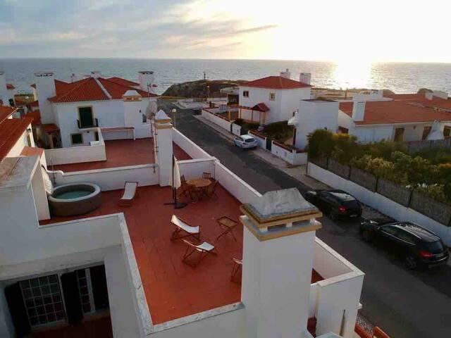 Porto covo com terraço vista mar - Costa Vicentina