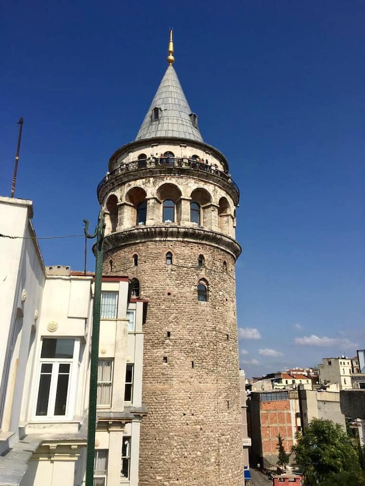 a PLace by Galata Tower w/View Terrace Bosphorus