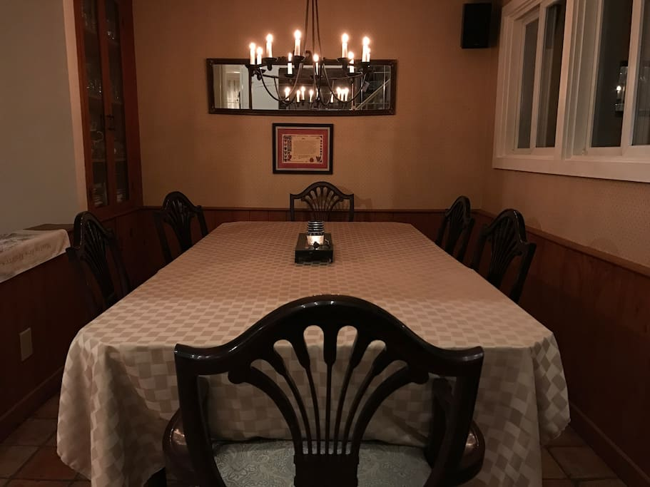 Candlelight dining in the Dining Area.